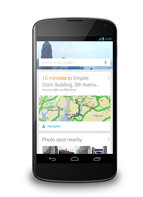 Android Jelly Bean 4.2 Google Now
